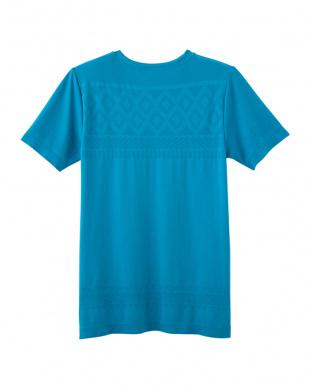 ブルーグリーン クルーネックTシャツを見る