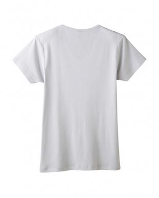 ライトグレー VネックTシャツを見る