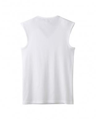 ホワイト Vネックスリーブレスシャツ・吸汗速乾/冷感/抗菌防臭を見る