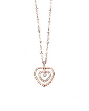 ピンクゴールド TWIN HEARTS ネックレスを見る