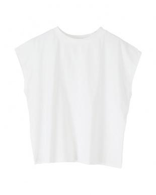 オフホワイト フレンチスリーブTシャツを見る