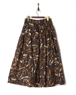 ブラウン×ブラック スカートを見る