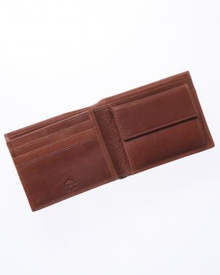 ブラウン 二つ折り財布を見る