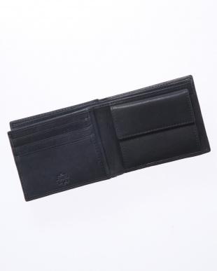 ネイビー 二つ折り財布を見る