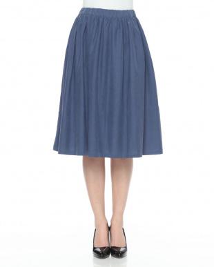 ブルー  タイプギャザースカートを見る