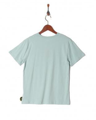 ブルーグレー プリント半袖Tシャツ(大人)を見る