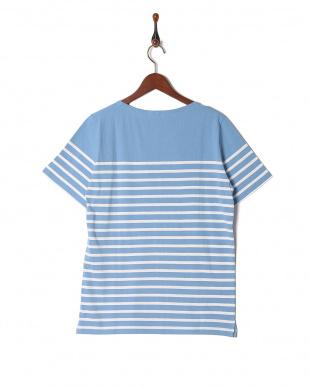 サックス ボーダーバスクシャツ SSを見る