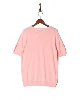 ピンク フレンチリネン半袖プルオーバーを見る