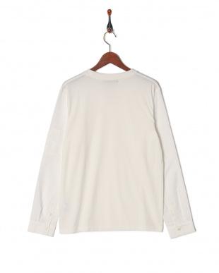 ホワイト 布帛切替MA1Tシャツ LSを見る