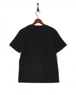 ブラック 柄切替Tシャツ SSを見る