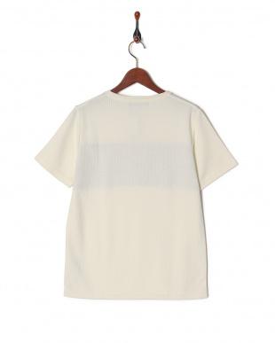 ホワイト 柄切替Tシャツ SSを見る