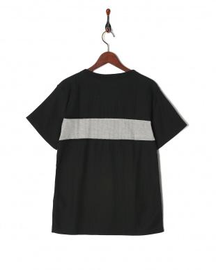 ブラック T/C度詰めワッフルTシャツ SSを見る