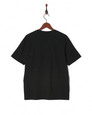 ブラック リメイク風カレッジ切替Tシャツ SSを見る