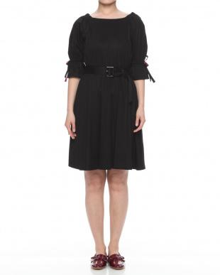 ブラック ドレープスムース ジャージードレスを見る