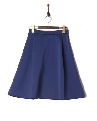 ネイビー  ダブルフェイス リバーシブルスカートを見る