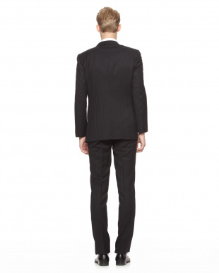 ブラック J∞QUALITY シャドークレストブリッジストライプスーツを見る