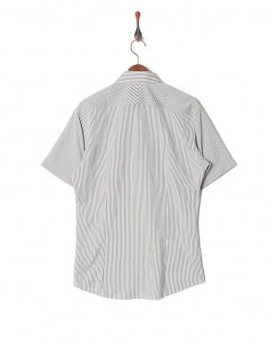 グレー イージーケア ジャージーストライプボタンダウンシャツを見る