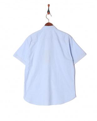 ブルー テクニカルオックスボタンダウンハーフスリーブシャツを見る