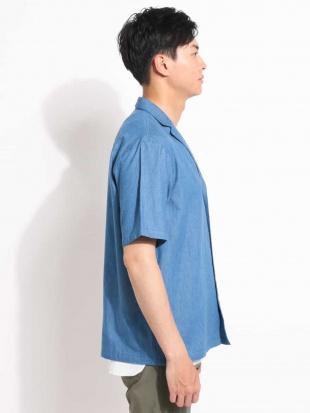 ネイビー 4.5オンスデニムテーラードシャツ[WEB限定サイズ] a.v.v HOMMEを見る
