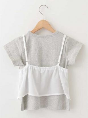 ホワイト [100-130]Tシャツ×キャミソールトップス a.v.v bout de chouを見る