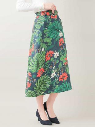 グリーン 【洗濯機で洗える】ボタニカルプリントスカート MK MICHEL KLEINを見る
