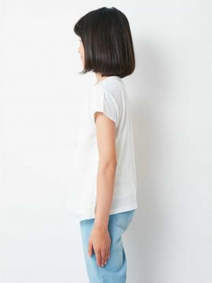 ホワイト [100-130]シフォン重ねプリントTシャツ[WEB限定サイズ] a.v.v bout de chouを見る