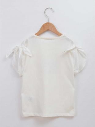 ホワイト [100-130]ロゴ袖リボンカットソー[WEB限定サイズ] a.v.v bout de chouを見る