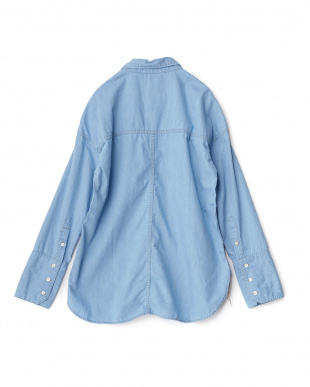 L/BLUE ビッグポケットシャツを見る