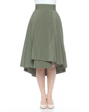 BLACK プリーナテールフレアスカートを見る