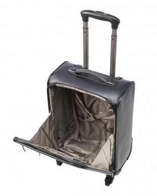 ブラック ダブルジップ 4輪 スーツケースを見る
