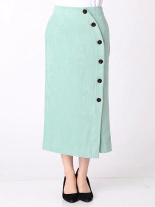 グリーン フェイクスエードカラータイトスカート LAGUNAMOONを見る