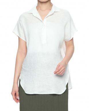 ネイビー フレンチリネンスキッパーシャツを見る
