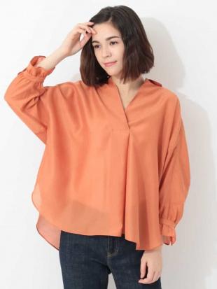 オレンジ 【洗える】ドルマンフォルムスキッパーシャツ GEORGES RECHを見る
