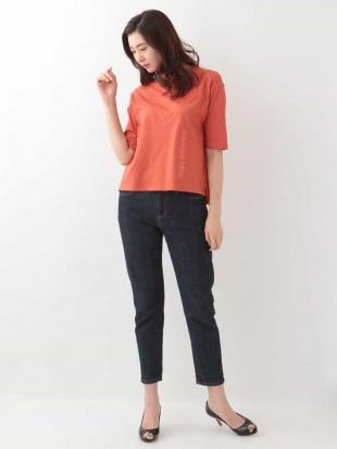 オレンジ 【新色追加】【洗える】シンプルロゴTシャツ GEORGES RECHを見る