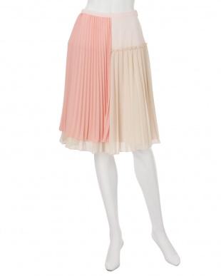 ピンク ランダムカラープリーツスカート MERCURYDUOを見る