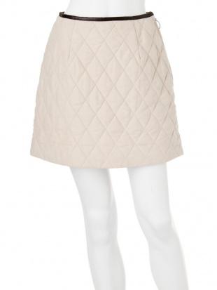 カーキ キルティングスカート MERCURYDUOを見る