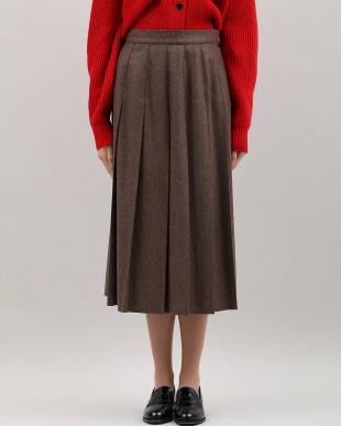 ベージュ2 フラノプリーツスカート Maison de Beigeを見る