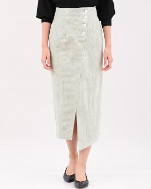ペールグリーン4 コーデュロイタイトスカート Luftrobeを見る