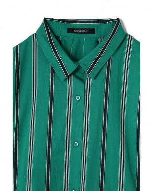 グリーン1 マルチストライプレギュラーカラーシャツ R/B(オリジナル)を見る