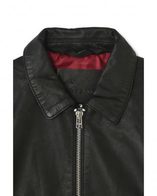 ブラック1 裾ボーダーレザージャケット R/B(バイイング)を見る