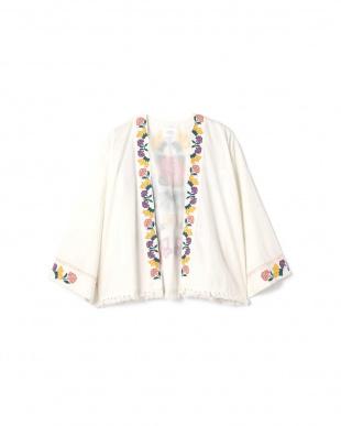 ホワイト1 フラワー刺繍ジャケット R/B(バイイング)を見る