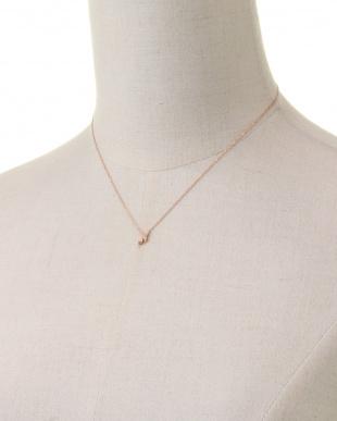 ピンクゴールド ネックレスを見る