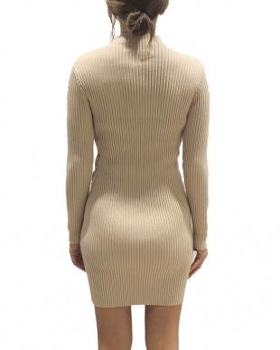 ベージュ Laceup knit onpieceを見る