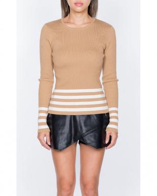 ベージュ Julie knit topsを見る