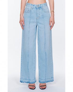 ブルー 904 Wide denim pantsを見る