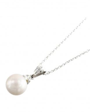 SV あこや真珠8.0~9.0mm 大珠 CZネックレスを見る