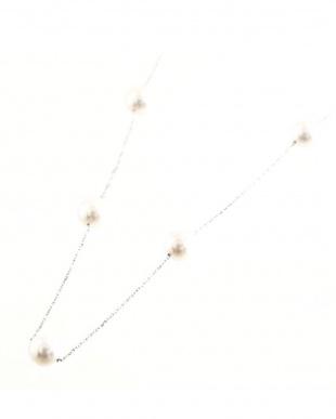 K18WG あこや本真珠 8.0~9.0mm 大珠ステーションネックレス 77cmを見る