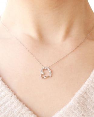 PT 天然ダイヤモンド 計0.4ct ハート プラチナネックレス [鑑別書付]を見る