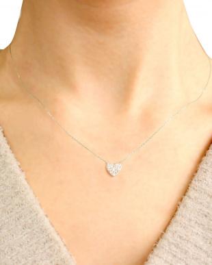PT 天然ダイヤモンド 計0.2ct ハート プラチナネックレスを見る