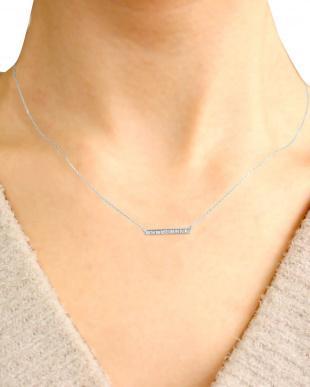 PT 天然ダイヤモンド 計0.2ct ライン プラチナネックレスを見る